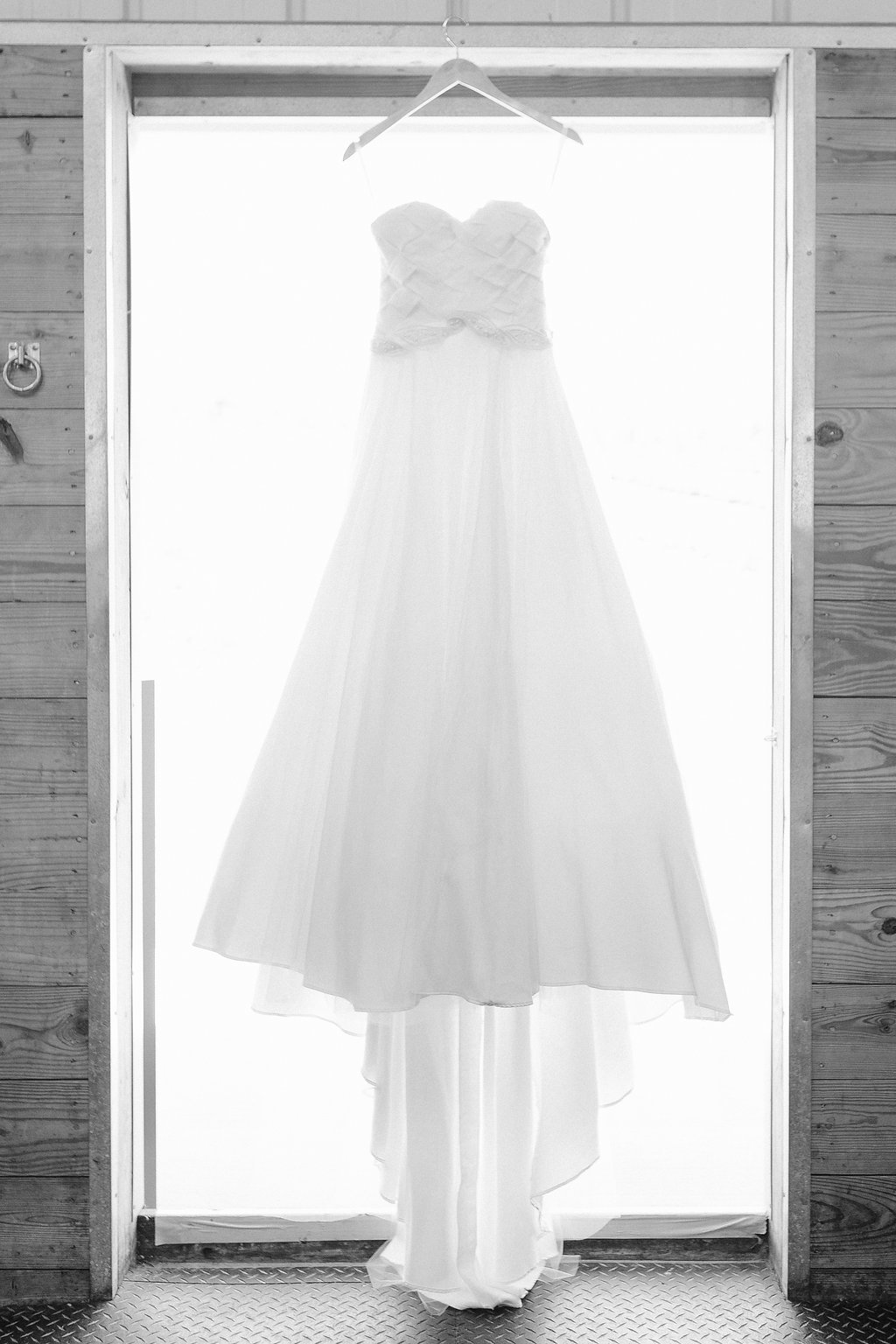Janay A Eco Bridal wedding gown black and white photo