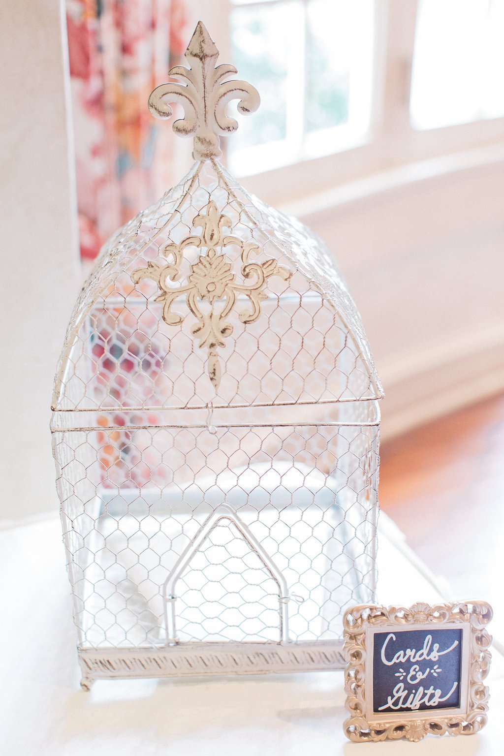 bird cage cards and gift box