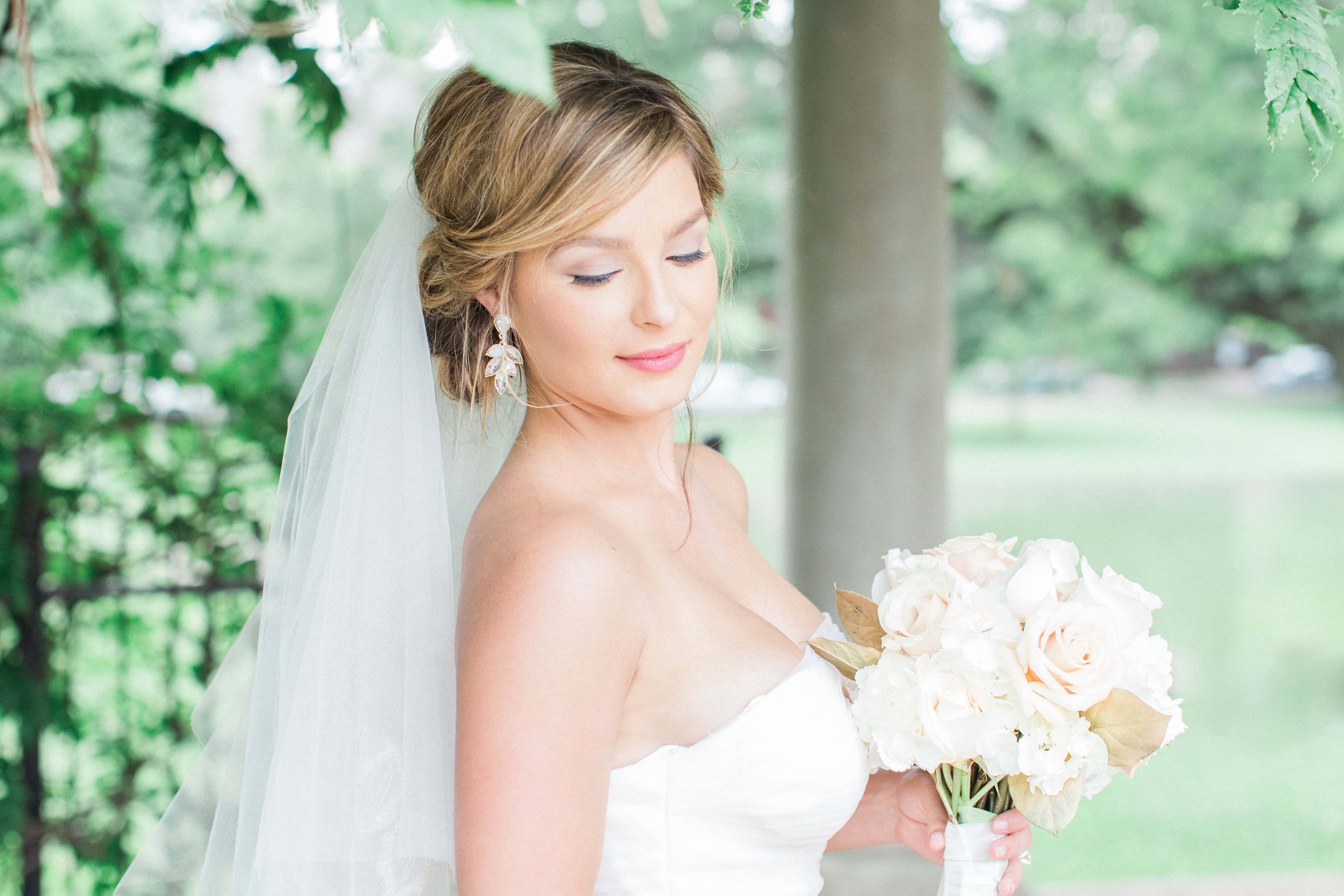 Bridal portraits under an arbor