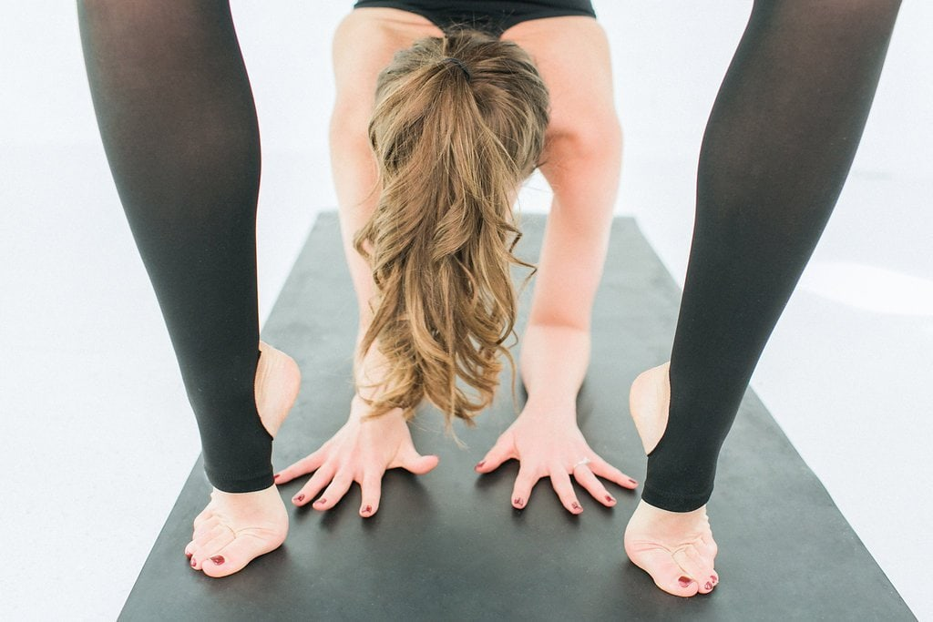 Woman doing a backbend