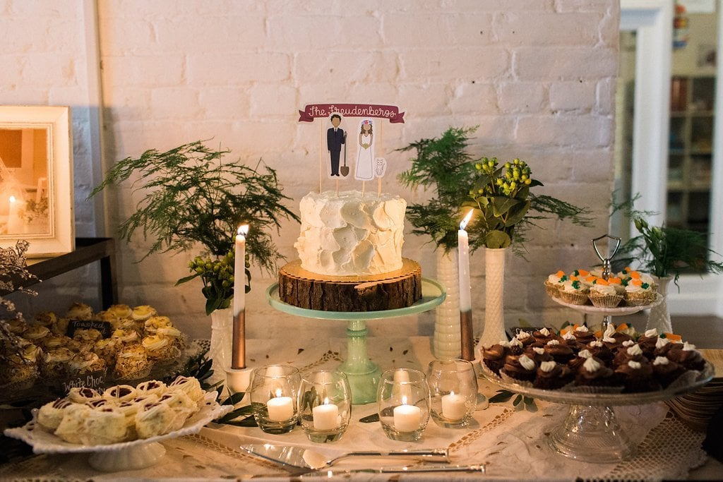 Dessert and cookie table at wedding reception