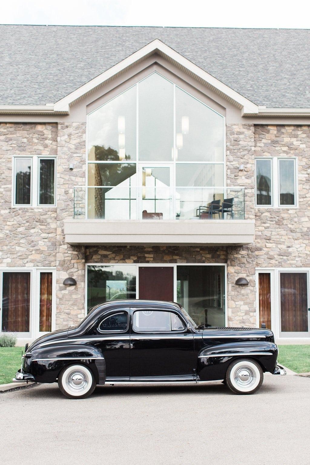 Vintage black car