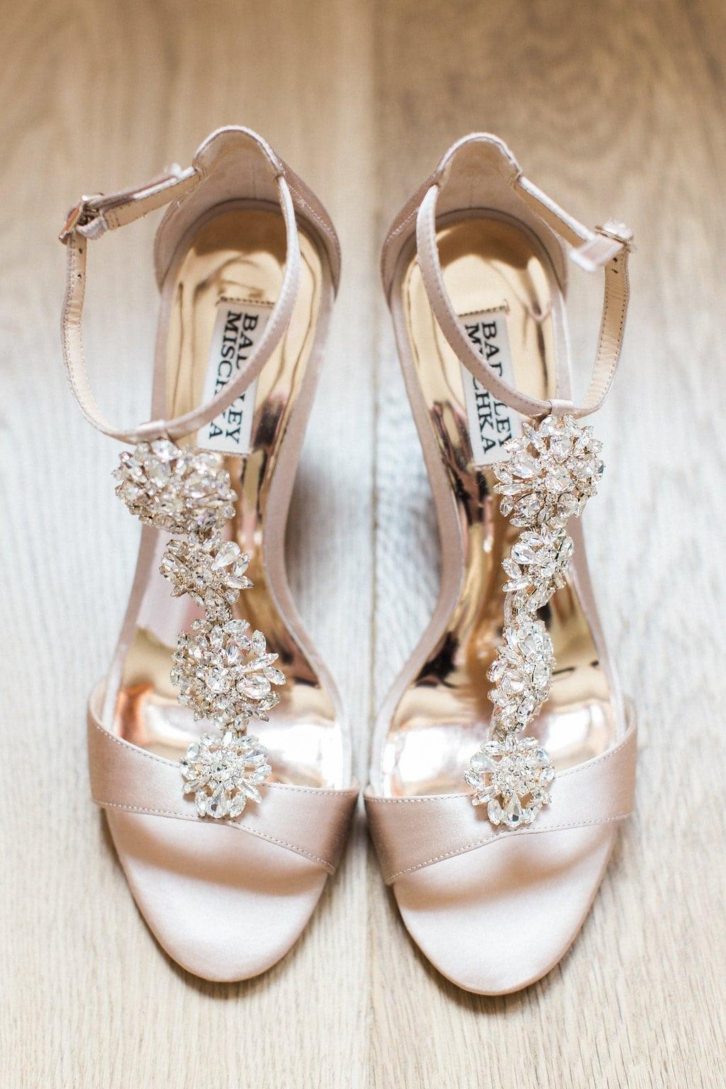 badgley mischka Finesse Embellished Block Heel Sandals bridal shoes