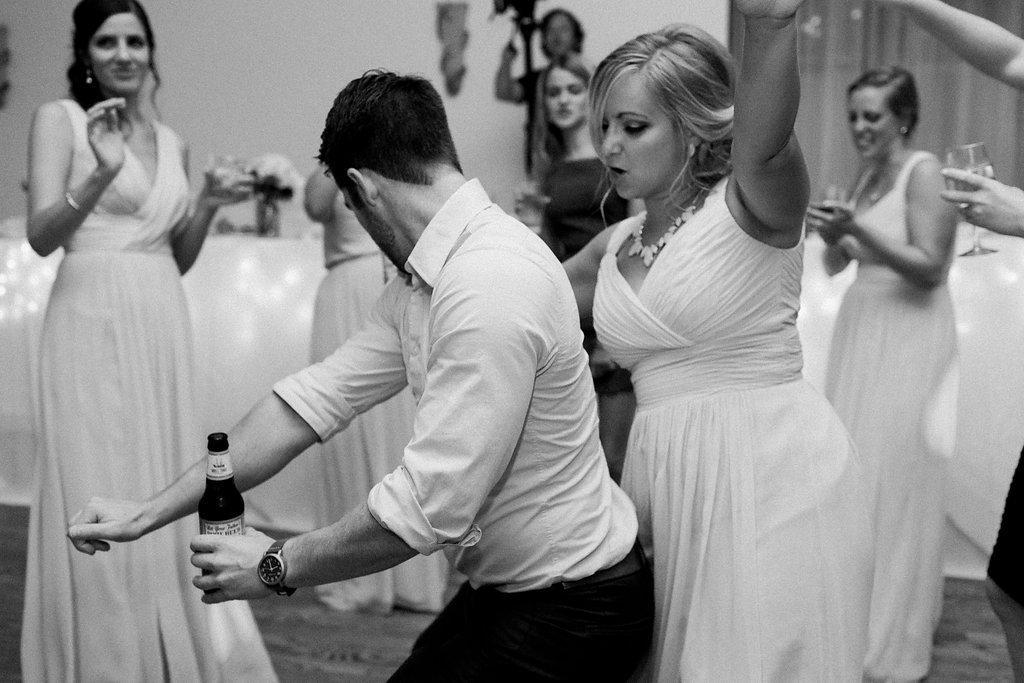 Reception dancing photos of wedding guests