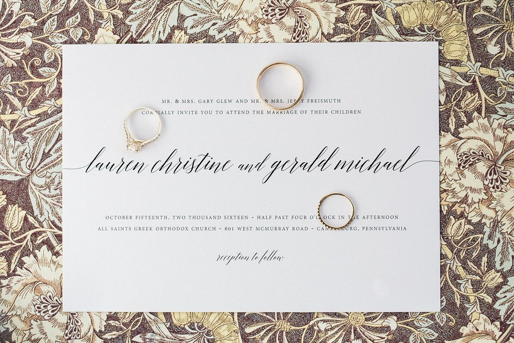 Wedding Invitations from Shine Wedding Invitations for a Wedding at the Club at Nevillewood