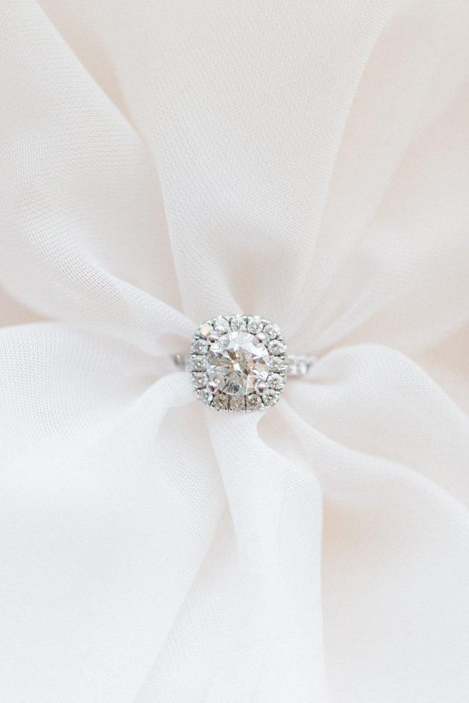Engagement ring diamond halo bridal boudoir photography: Pittsburgh Boudoir Photography