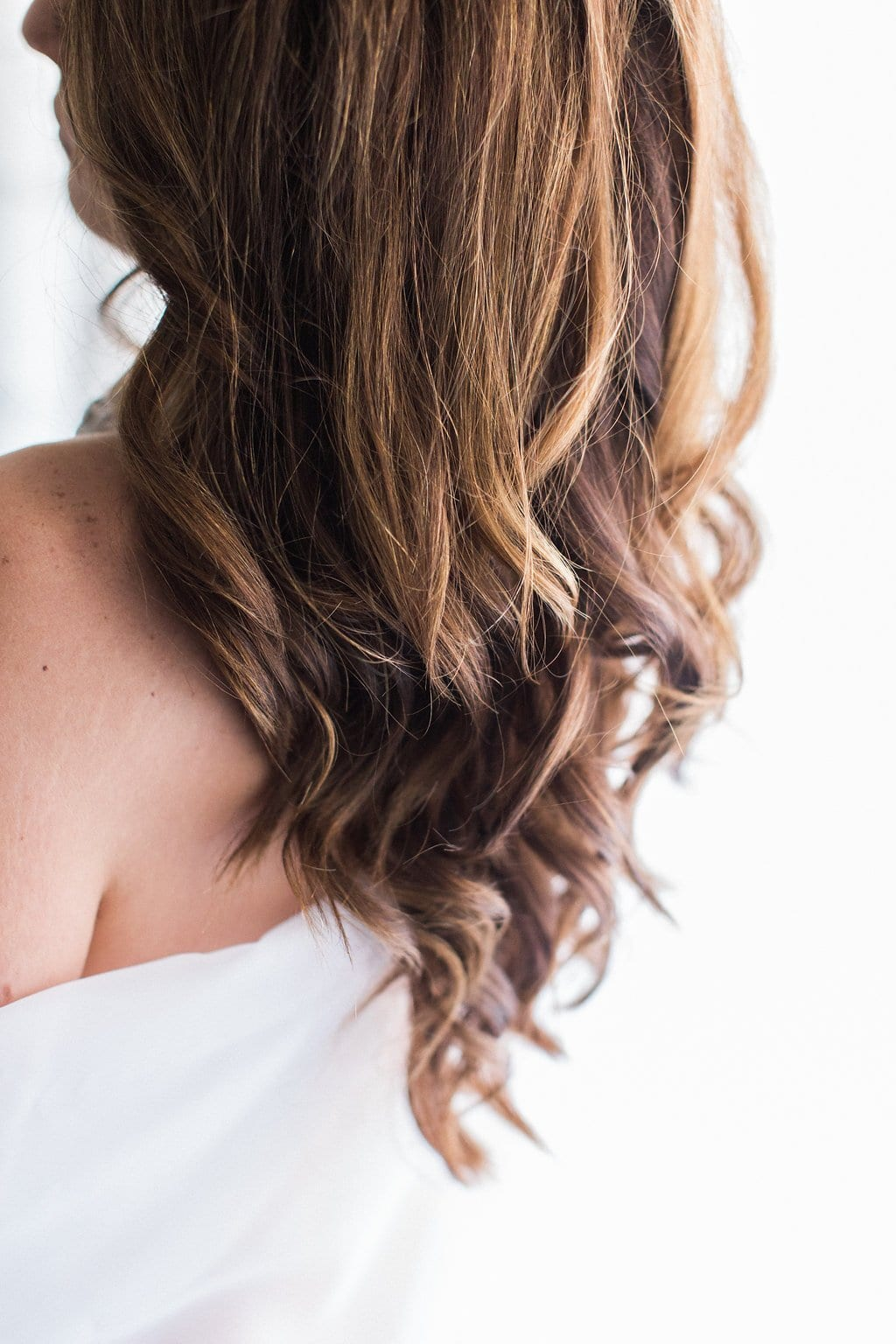 Bridal Boudoir Photography image of hair during session