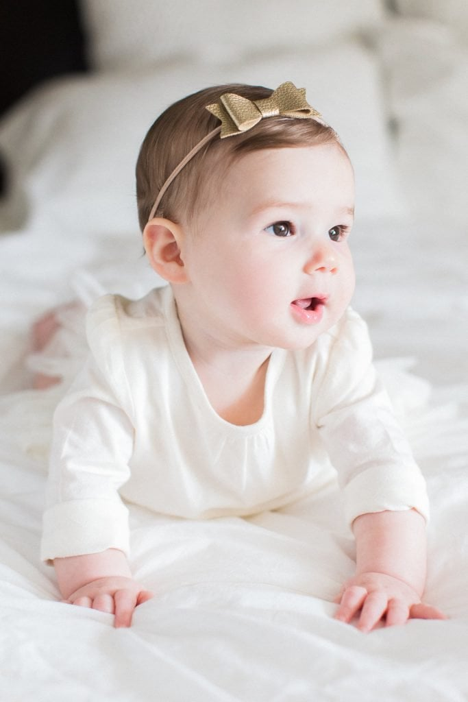 Photograph of baby during a lifestyle family portrait session