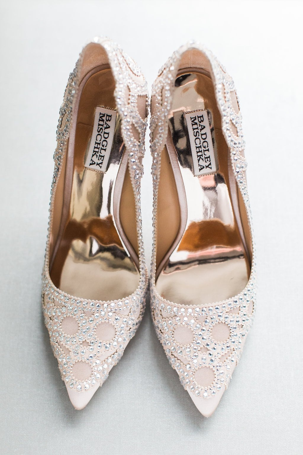 Badgley Mischka bridal shoes photo a the Hyatt place hotel in southside - J Verno Studios Winter Wedding