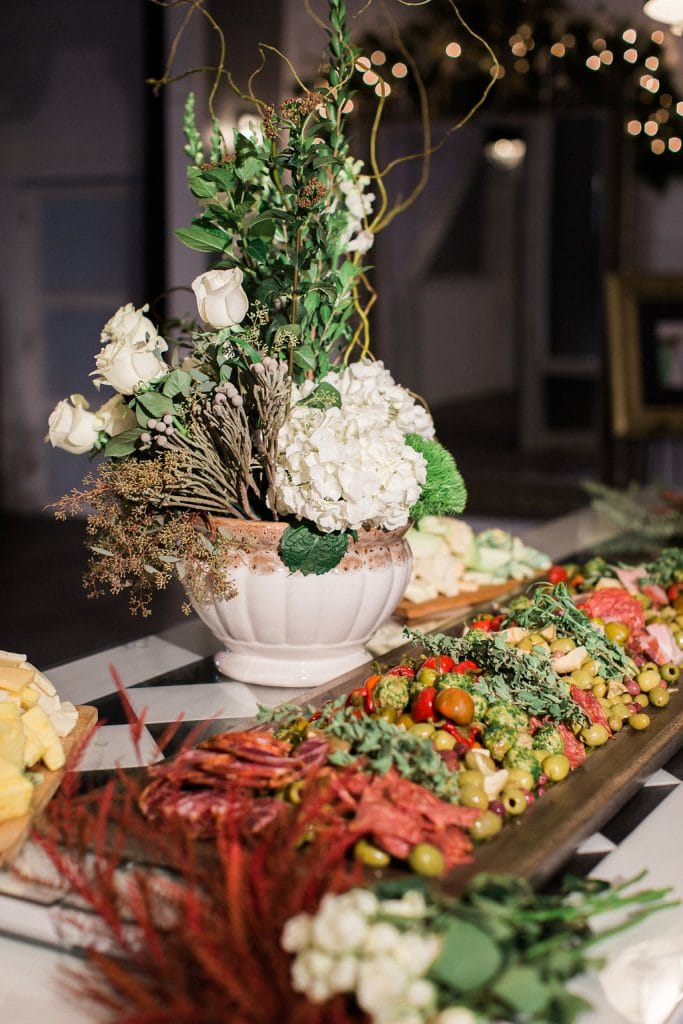 Cocktail hour Hors d'oeuvre at J. Verno Studios