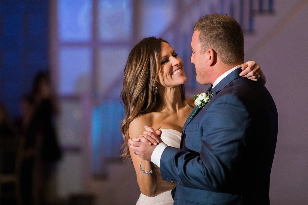 Bride and Groom during their first dance as husband and wife during reception
