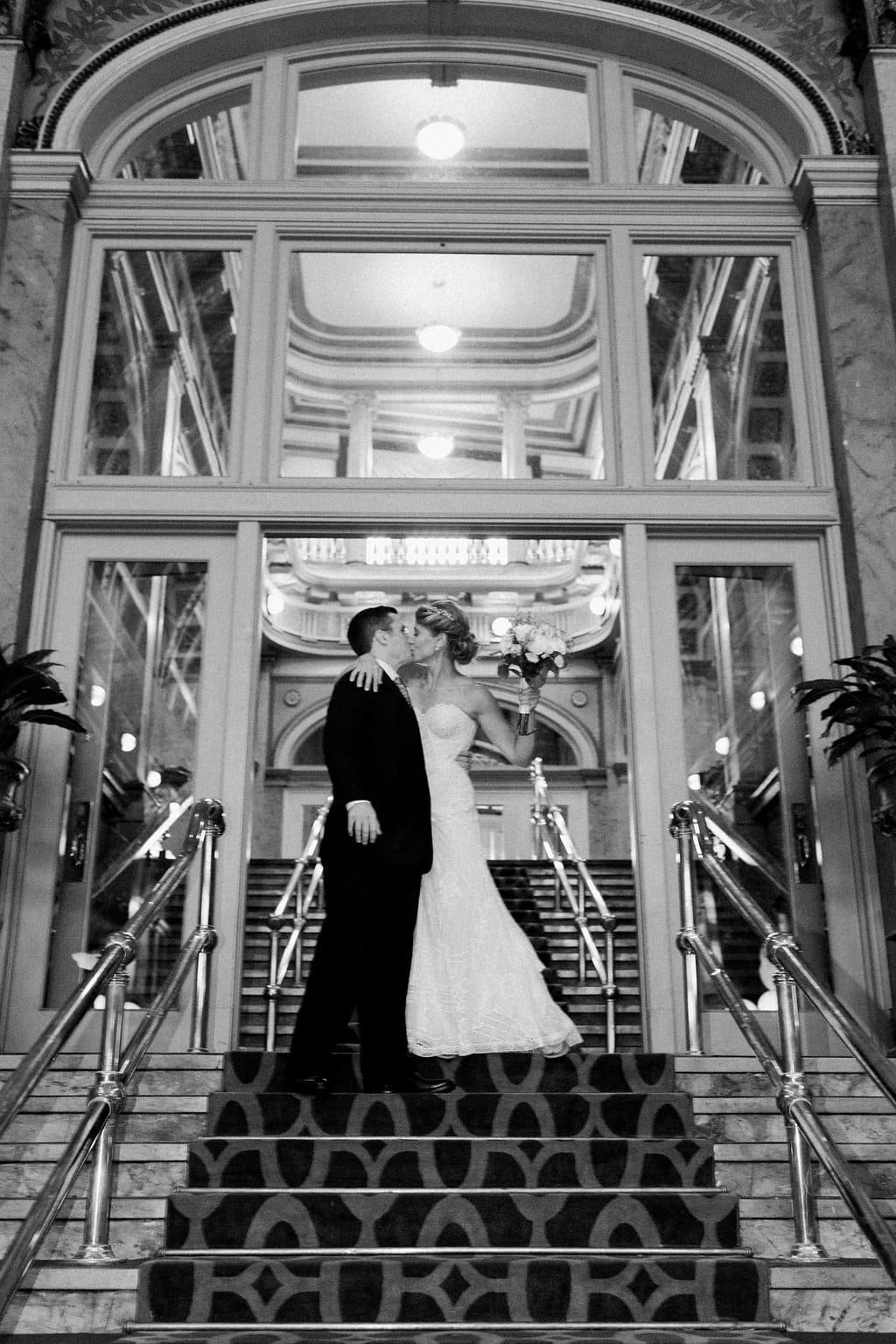 The Bride and Groom's grand entrance into their wedding reception - 1920's inspired wedding Grand Concourse