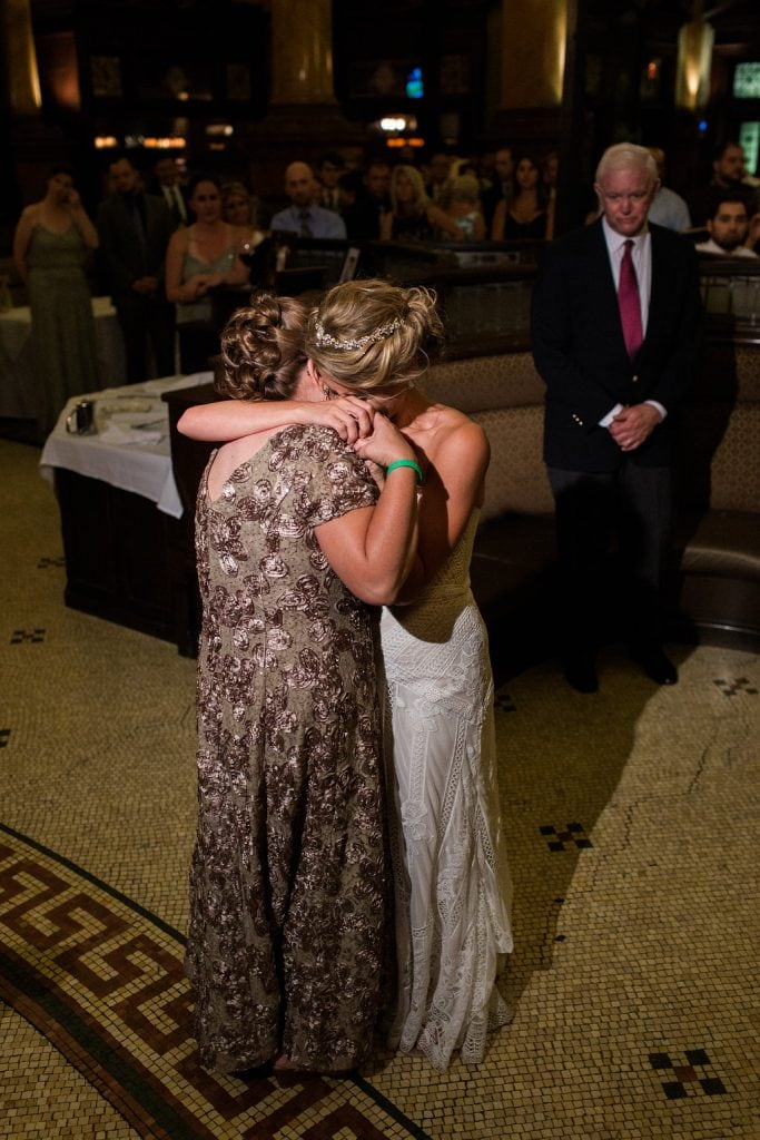 Bride dancing with her mother at Grand Concourse wedding reception