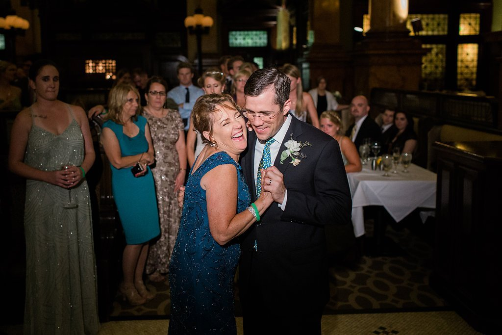 Groom dancing with his mother at Grand Concourse Wedding reception - 1920's inspired wedding Grand Concourse
