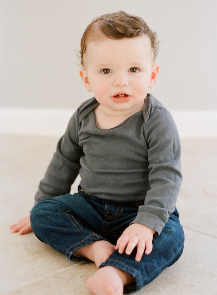film portrait of baby on 1st birthday - Spring Family Portraits New Rochelle