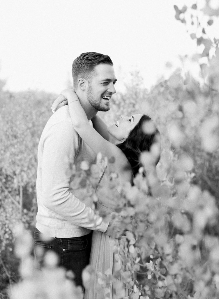 Lake Dillon Colorado Engagement Photography bride and groom laughing together