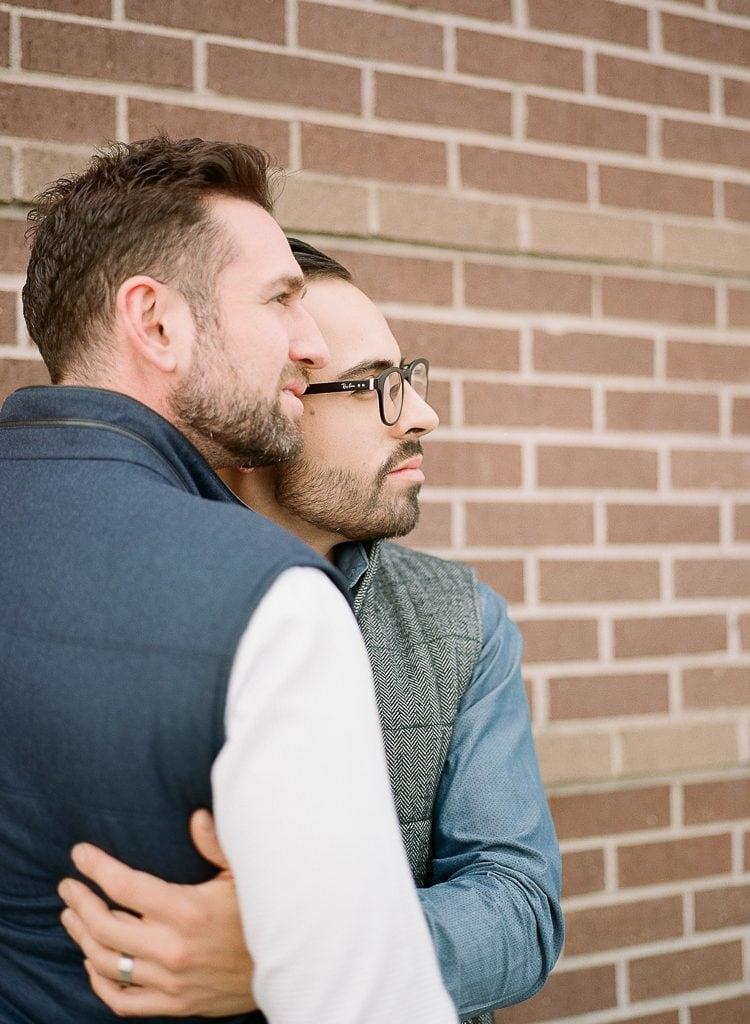 Estes Park Engagement Photography Session - gay couple during portraits