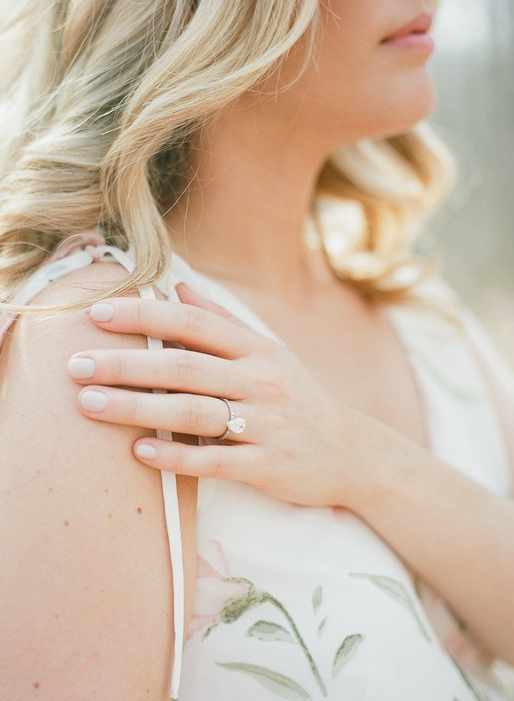 close up of bride's ring