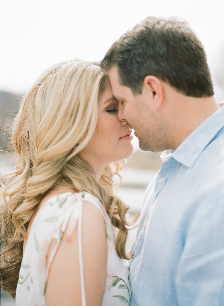 Seven Springs Engagement Photography - bride and groom kissing