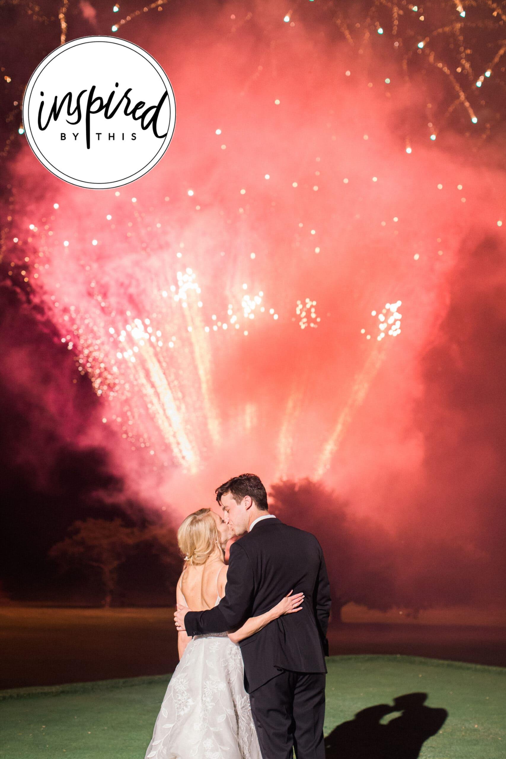 Fireworks at wedding: Black Tie Fox Chapel Golf Club Wedding captured by Pittsburgh wedding photographer Lauren Renee