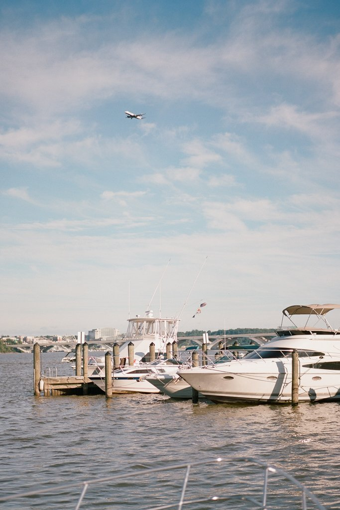 Boats by the dock in Old Town Alexandria Virginia - Engagement Photography Session in Old Town Alexandria, Virginia
