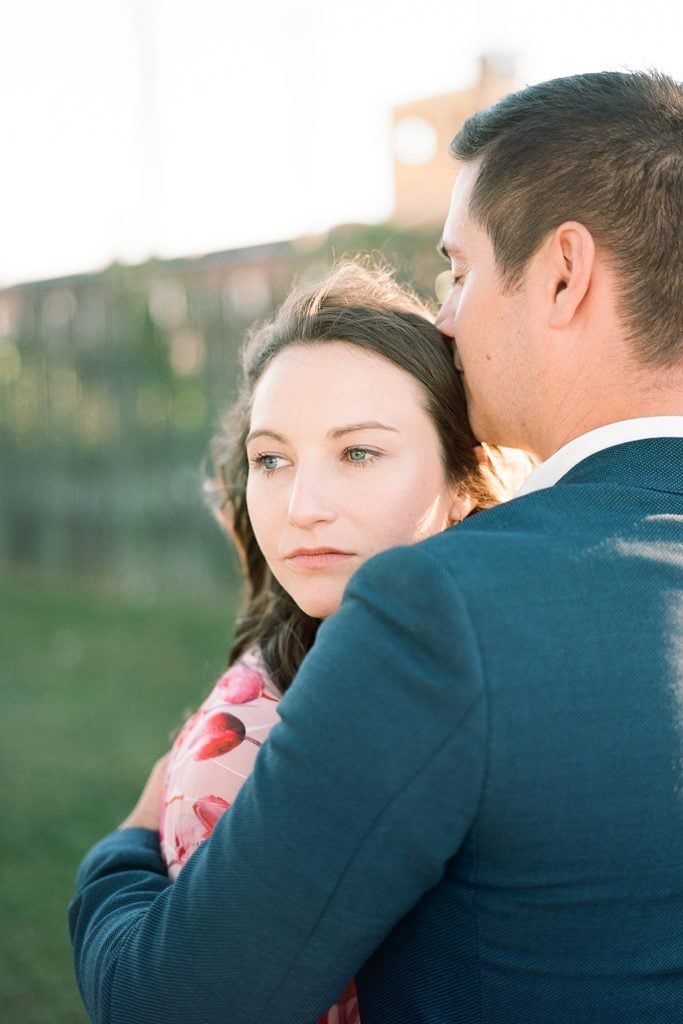 couple during engagement photos in Virginia