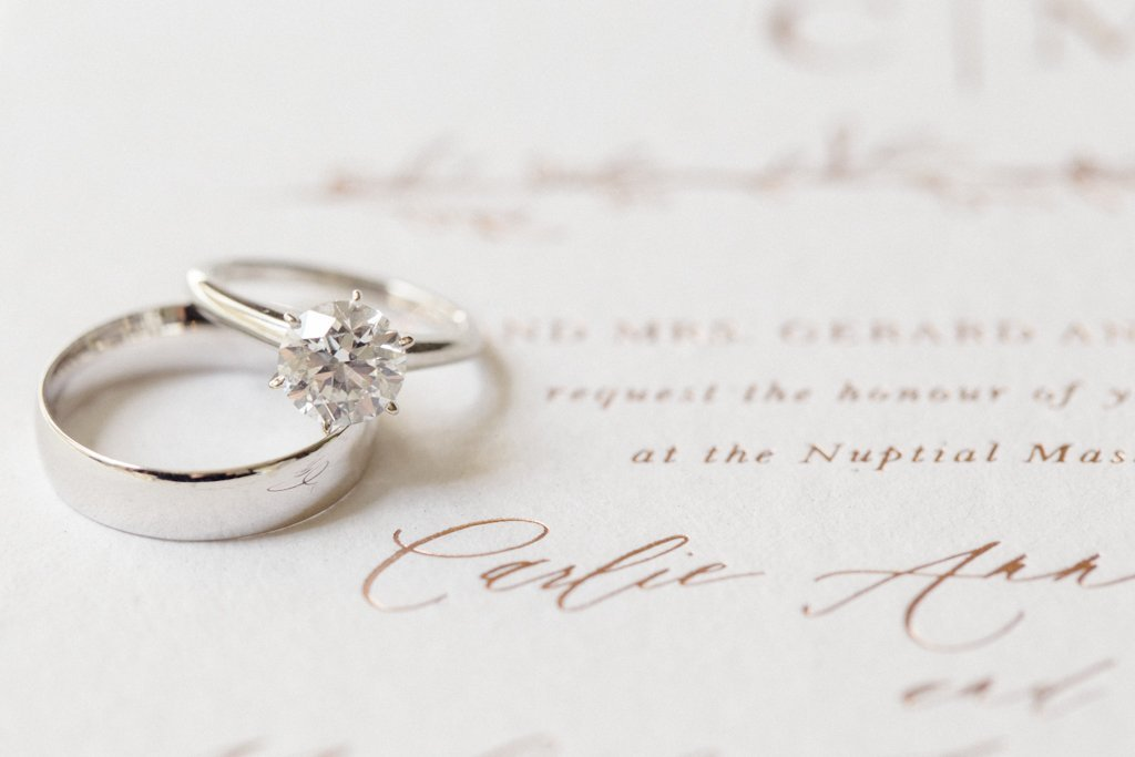The Pennsylvanian Wedding Bride's rings invitations the Little Blue Chair