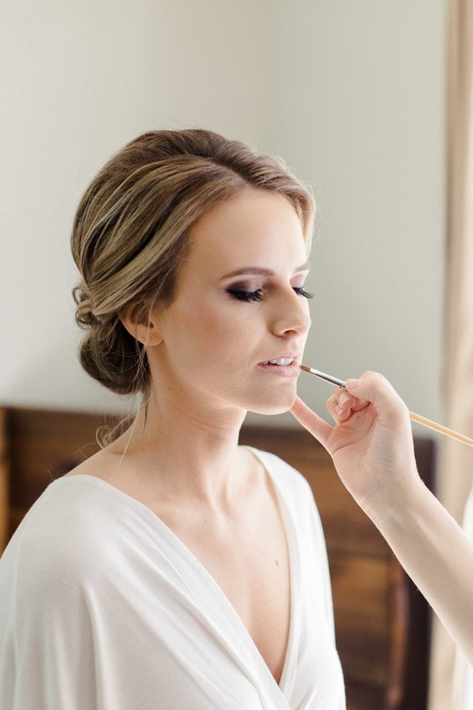 The Pennsylvanian Wedding Bride hair and makeup beauty justified by Justine Lynn