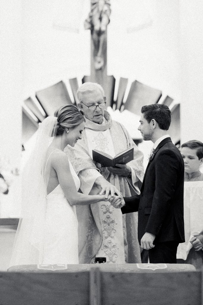 The Pennsylvanian Wedding ceremony at St. Bede's Church