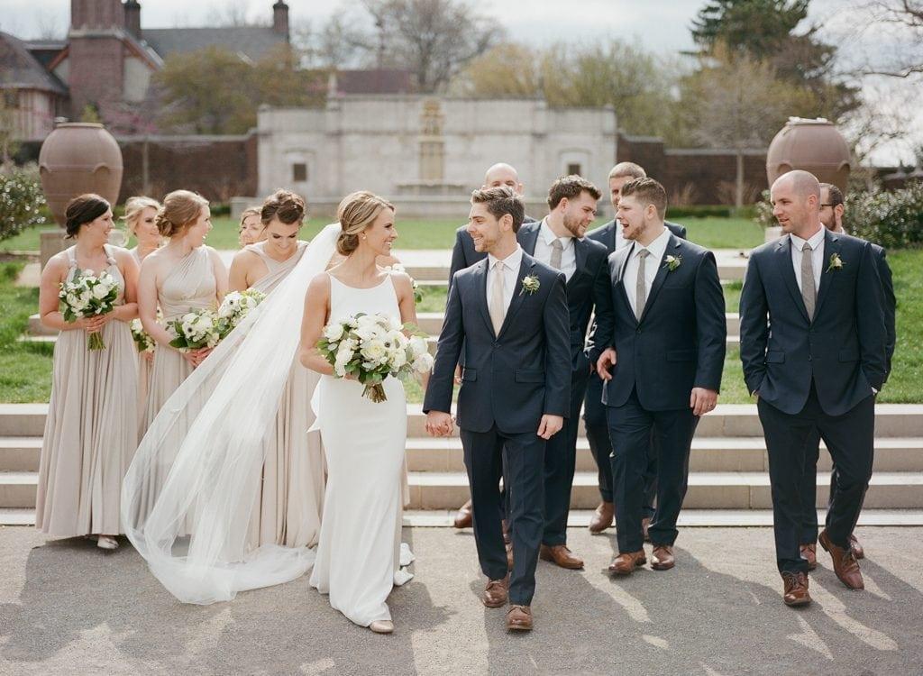 The Pennsylvanian Wedding bridal party portraits at Mellon Park