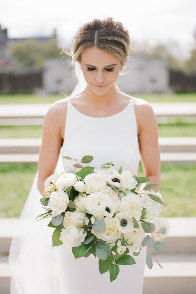 The Pennsylvanian Wedding Bride and groom portraits at Mellon Park flowers from Farmer's daughter