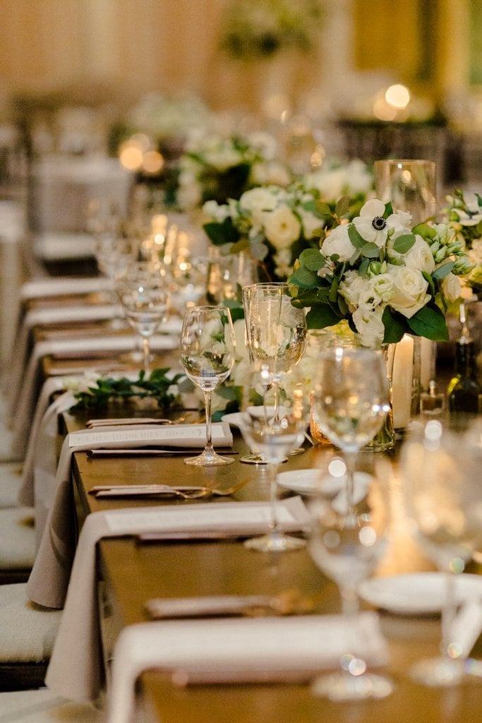 The Pennsylvanian wedding rentals from all occasions and farmer's daughter flowers- White and Gold Wedding at The Pennsylvanian