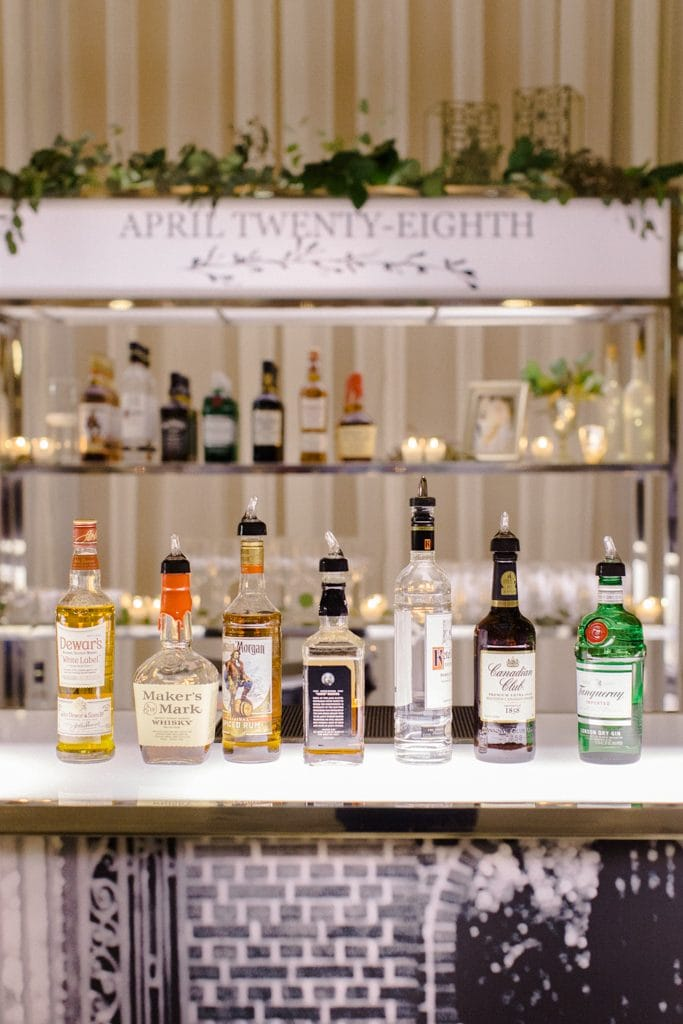 The Pennsylvanian wedding rentals from all occasions party with custom bar signage