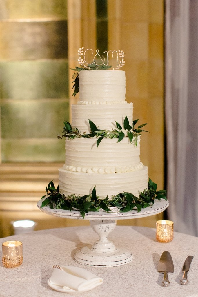 The Pennsylvanian wedding cake from Rania's catering- White and Gold Wedding at The Pennsylvanian
