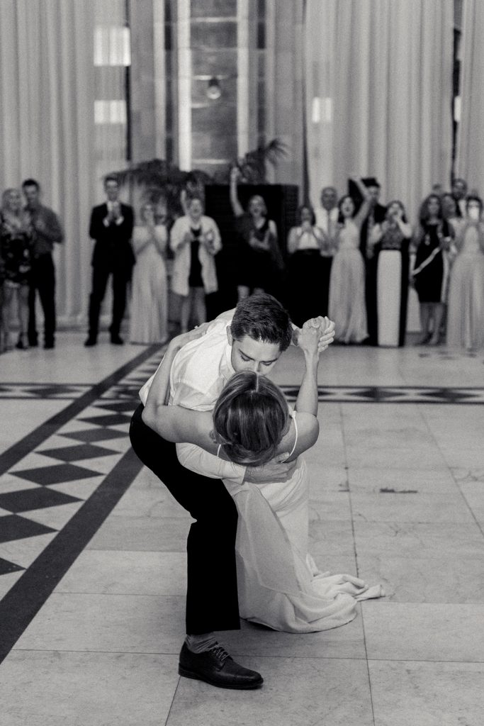 The Pennsylvanian wedding bride and groom first dance