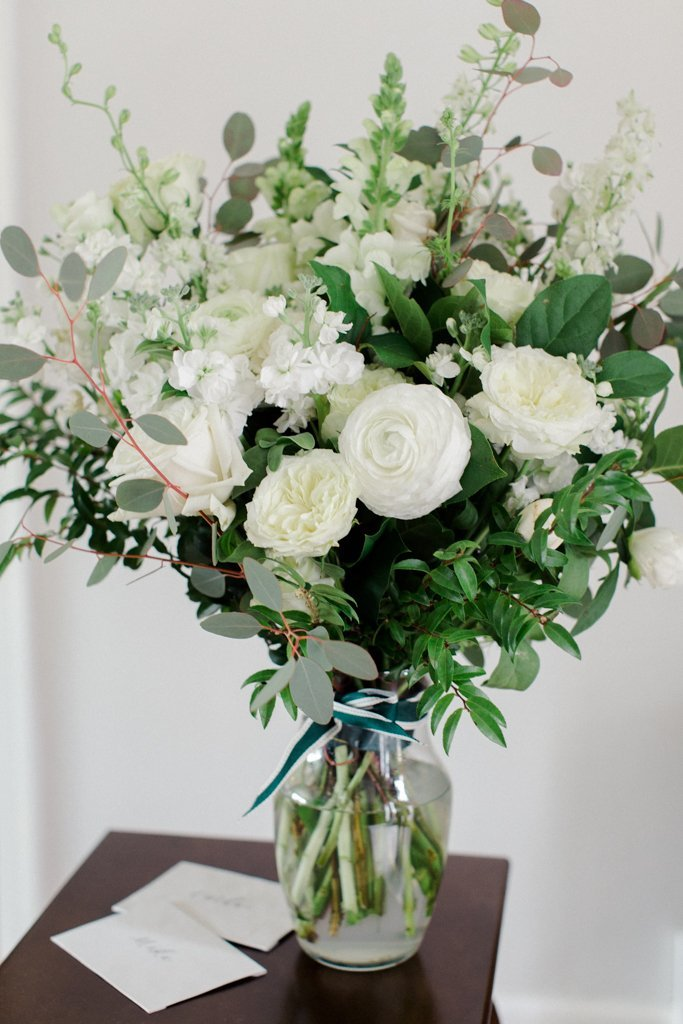 White and Gold Wedding at The Pennsylvanian flowers from Farmer's Daughter