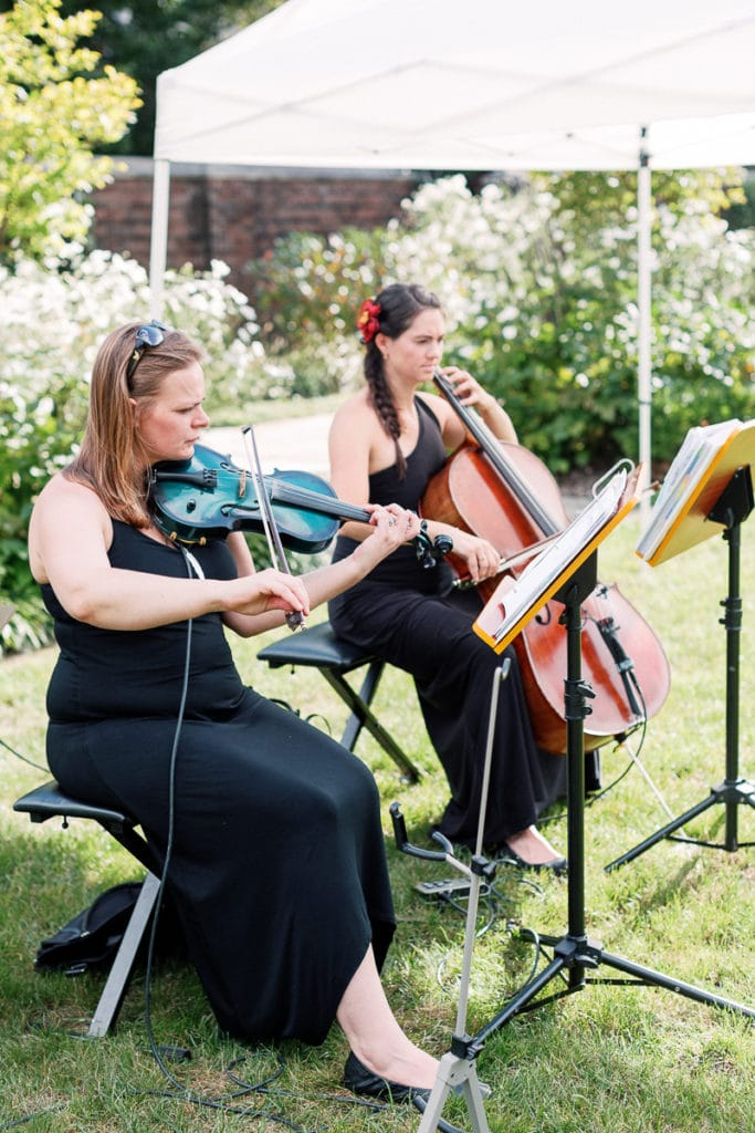 String musicians playing cermeony music