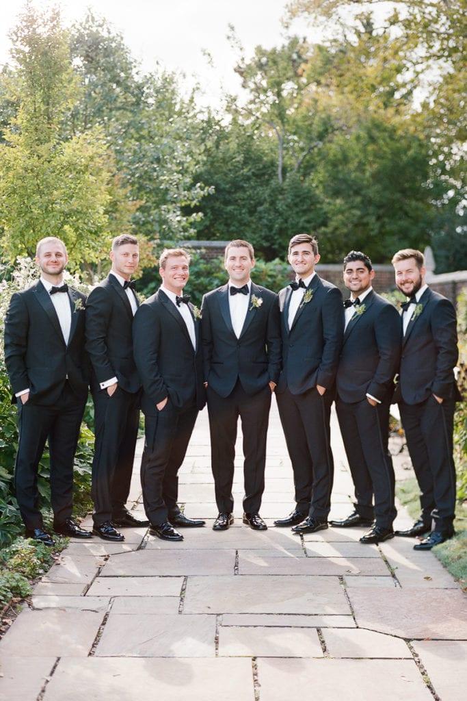Groom with his groomsmen