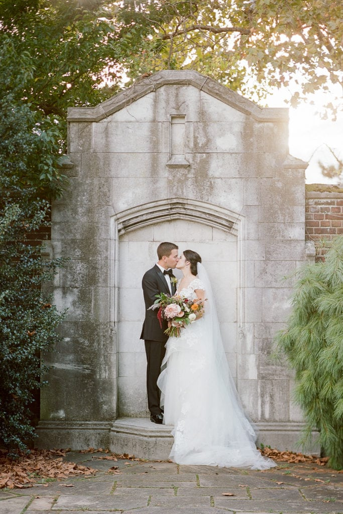 Bride and Groom Portraits outside the Pittsburgh Center for the Arts