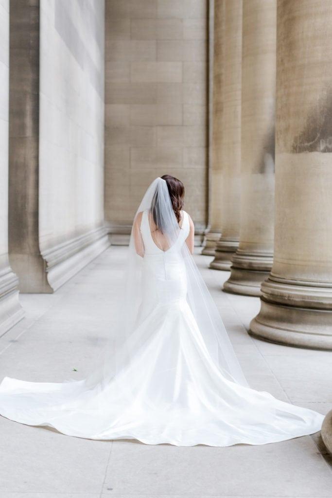 Sareh Nouri wedding dress: Timeless Blush and Gold Wedding at The Pennsylvanian by Lauren Renee Photography