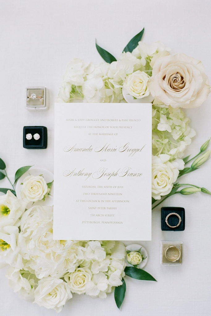 Invitation Plus wedding invite with black and gold Mrs. Box