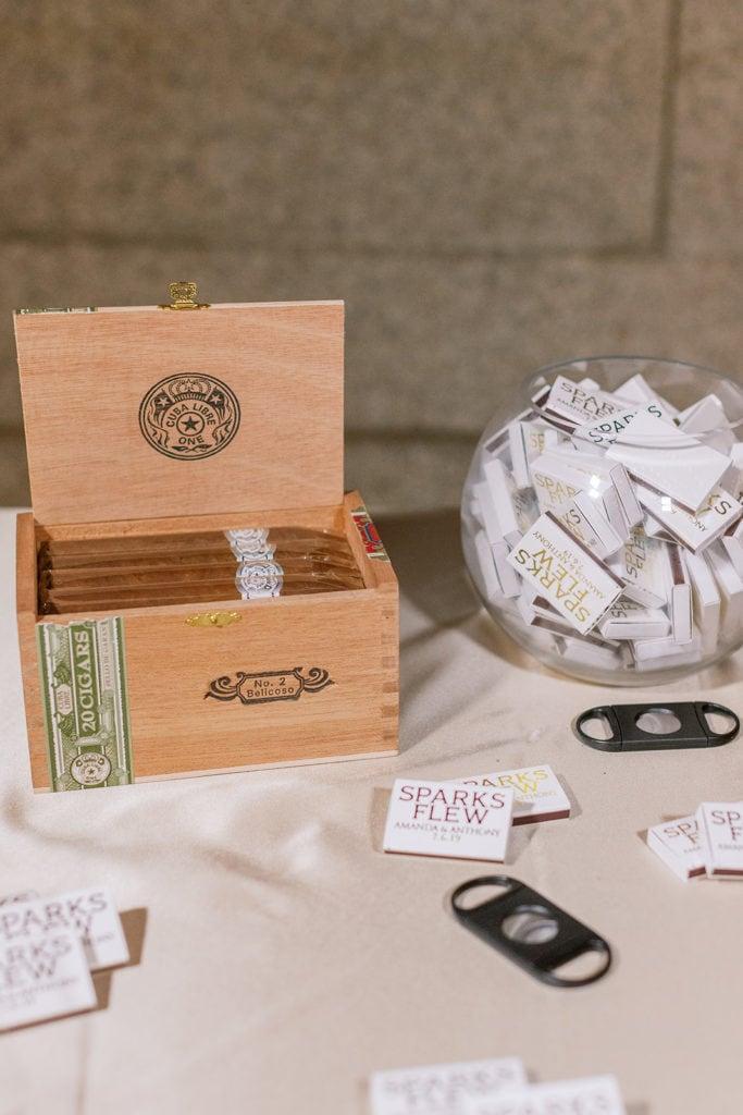Cigar bar in the rotunda at the Pennsylvanian