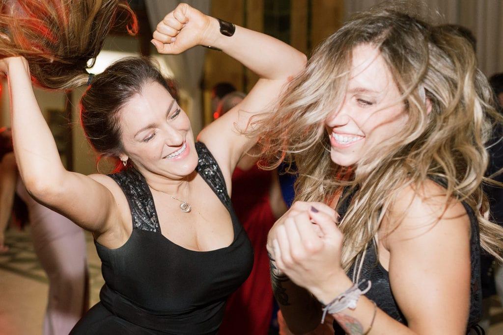 Wedding guests dancing inside the Pennsylvanian
