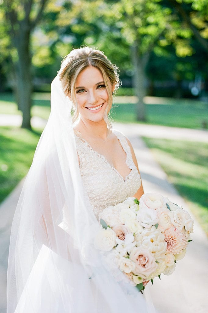 Outdoor Wedding Portrait: Pittsburgh Wedding captured by Pittsburgh Wedding Photographer Lauren Renee