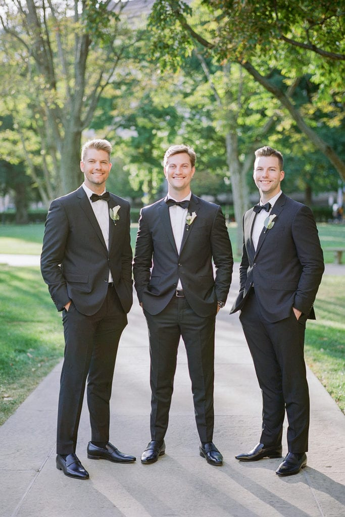 Ted Baker Tuxedos: Romantic Mauve Carnegie Music Hall Wedding captured by Lauren Renee
