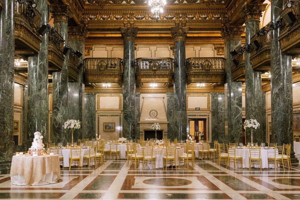 Carnegie Music Hall Wedding Reception: Pittsburgh Wedding captured by Pittsburgh Wedding Photographer Lauren Renee