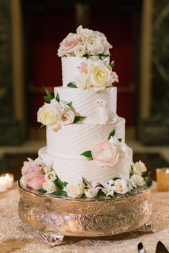Floral Wedding Cake Design: Pittsburgh Wedding captured by Pittsburgh Wedding Photographer Lauren Renee