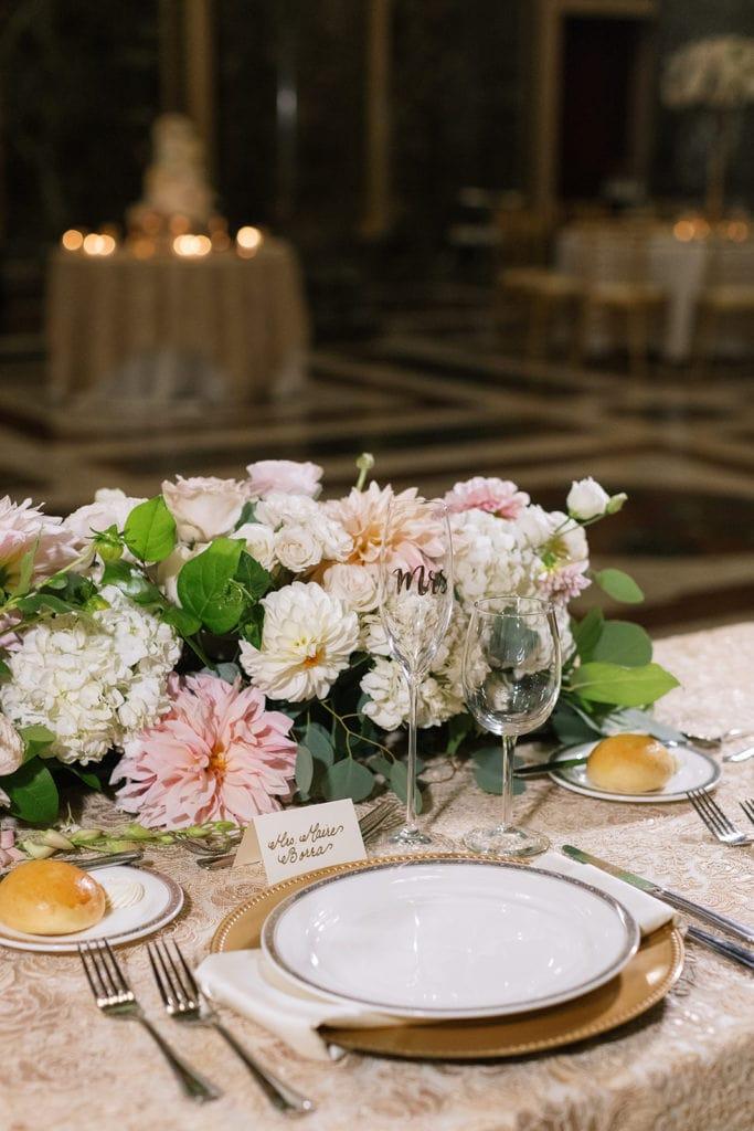 Romantic Wedding Table Decor: Pittsburgh Wedding captured by Pittsburgh Wedding Photographer Lauren Renee