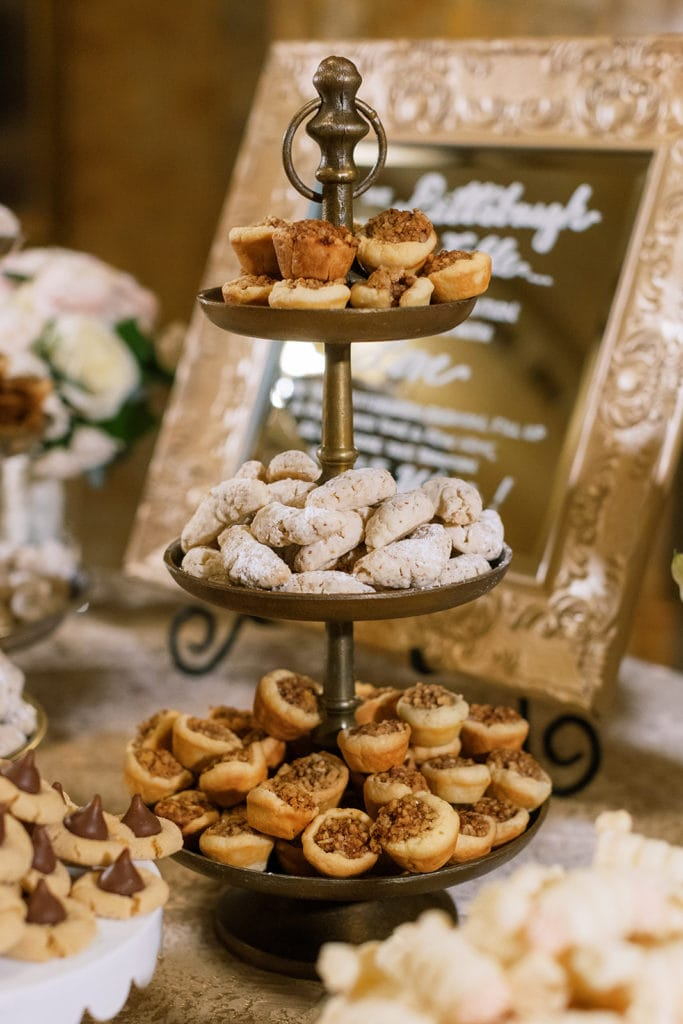 Pittsburgh Cookie Table Display: Pittsburgh Wedding captured by Pittsburgh Wedding Photographer Lauren Renee
