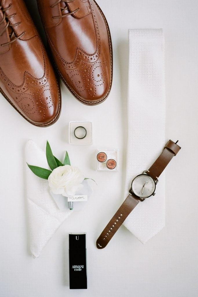 Grooms Accessories for Modern Fall Wedding at The Pennsylvanian